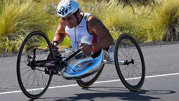 Alex Zanardi w 2015 r. podczas mistrzostw świata w triathlonie