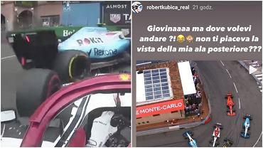 Robert Kubica śmieje się z zespołowego kolegi na Instagramie