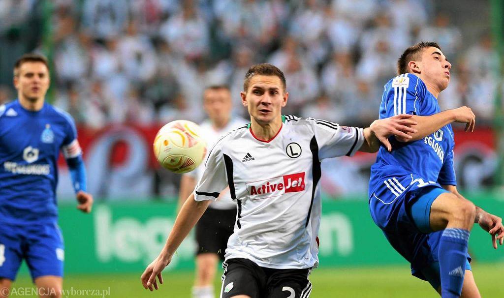 Artur Jędrzejczyk w meczu Legia - Ruch 2:1 w półfinale Pucharu Polski