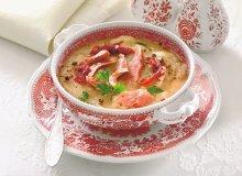 Zupa czosnkowa z szynką - ugotuj