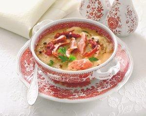 Zupa czosnkowa z szynką