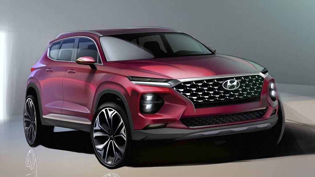 Hyundai Santa Fe 2018 render
