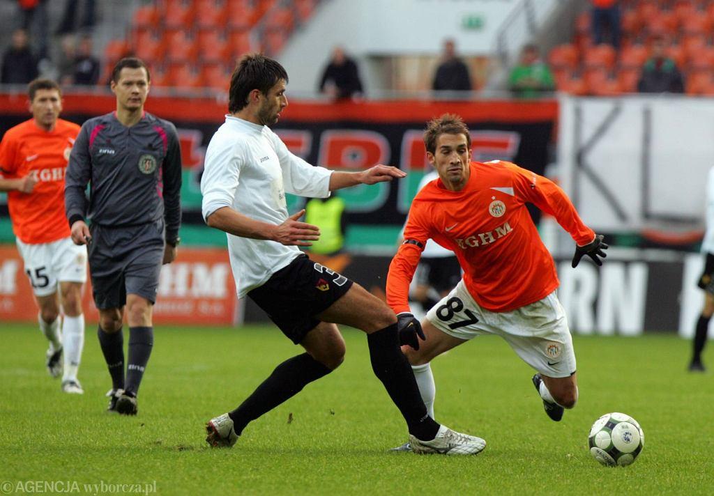 David Caiado (po prawej) był piłkarzem Zagłębia Lubin w sezonie 2009/2010