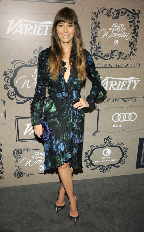 Actress Jessica Biel poses at Variety?s 4th annual Power of Women event on Friday Oct. 5, 2012, in Beverly Hills, Calif.  (Photo by Chris Pizzello/Invision/AP)