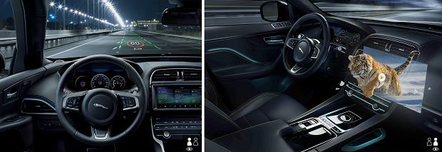 JAGUAR LAND ROVER  pracuje nad ekranami 3D w samochodach