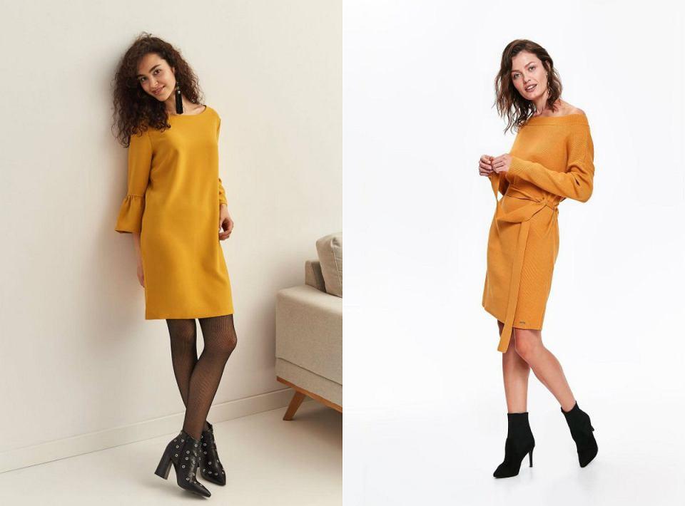Sukienki w kolorach złotej jesieni