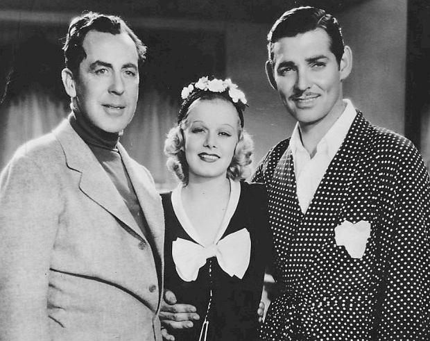 Reżyser Jack Conway, Jean Harlow i Clark Gable na planie filmu Saratoga (fot. Materiały prasowe)