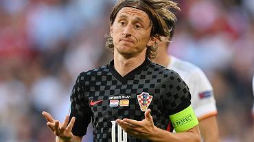 Reprezentacja Chorwacji w meczu z Hiszpanią na Euro 2020.