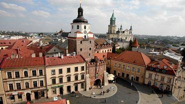 Lublin. Widok z wieży ratuszowej