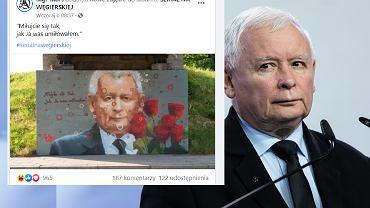Powstał mural z Jarosławem Kaczynskim