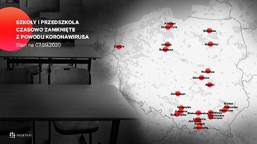 Szkoły czasowo zamknięte z powodu koronawirusa