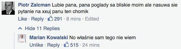 Komentarz na profilu Marian Kowalskiego