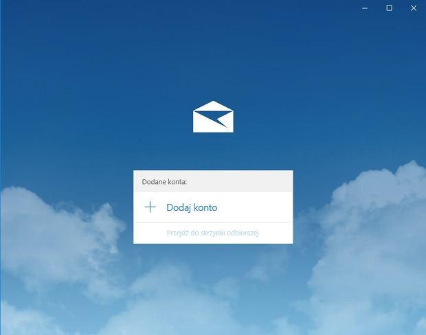 Aplikacja Poczta na Windows 10