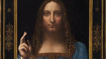 Fragment obrazu 'Salvator Mundi' autorstwa Leonarda da Vinci