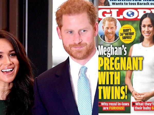 Meghan Markle jest w ciąży z bliźniętami? Amerykański tabloid zdradził płeć oraz imiona. Księżna Diana byłaby dumna