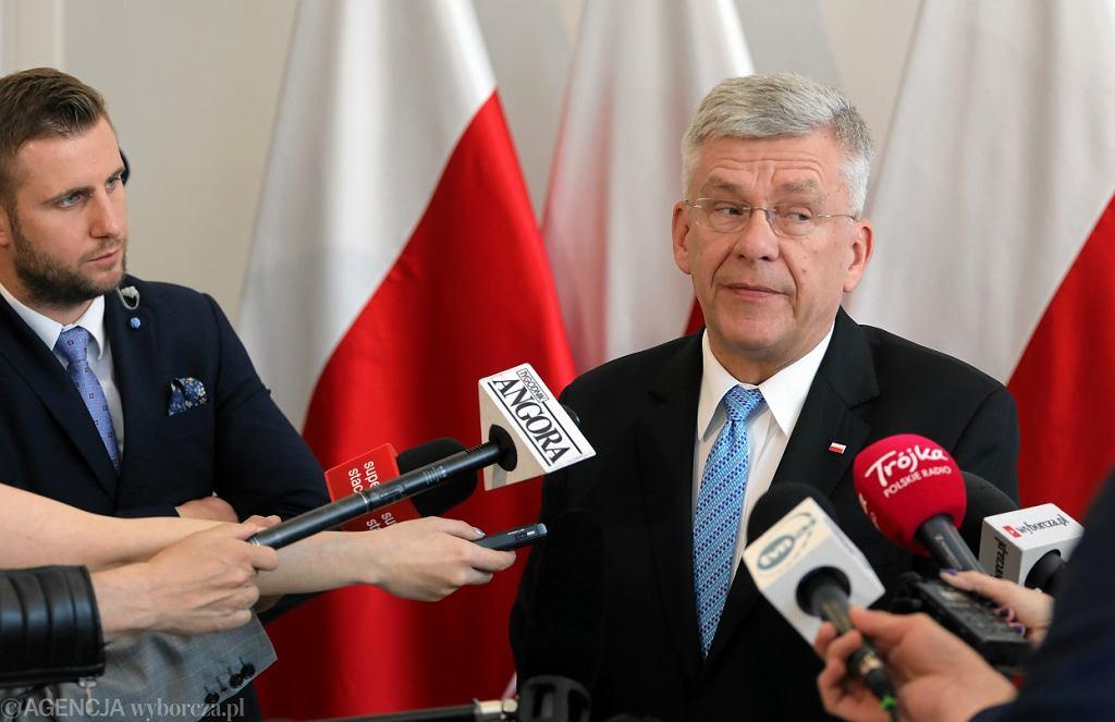 IKonferencja prasowa marszalka Senatu Stanislawa Karczewskiego w Warszawie