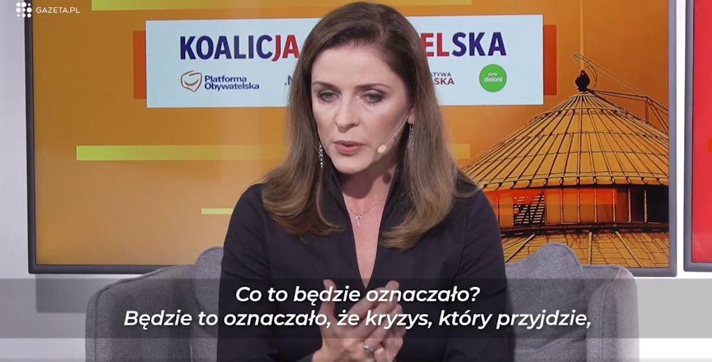 Joanna Mucha podczas Debaty w Gazeta.pl