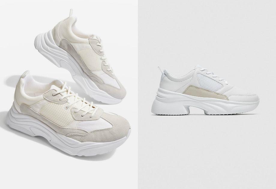 Buty sportowe z kolekcji Topshop (po lewej) i Zara (po prawej)