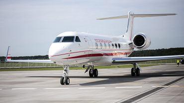 Przylot  samolotu Gulfstream G550  Generał Kazimierz Pułaski