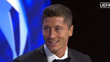 Robert Lewandowski na gali UEFA