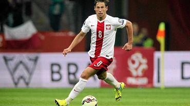 Grzegorz Krychowiak podczas meczu eliminacji Mistrzostw Europy Polska - Niemcy na Stadionie Narodowym