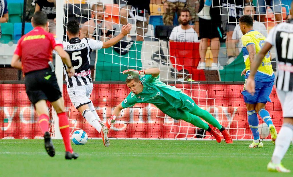 Wojciech Szczęsny podczas meczu Udinese - Juventus