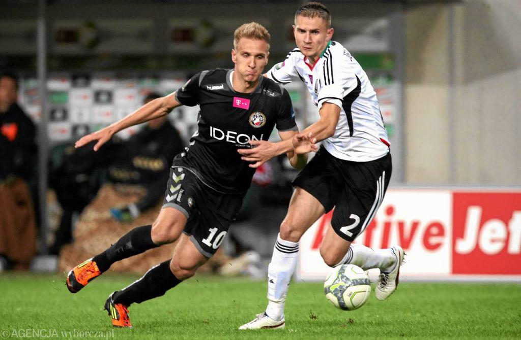 Łukasz Teodorczyk (Polonia Warszawa) i Artur Jędrzejczyk (Legia Warszawa)