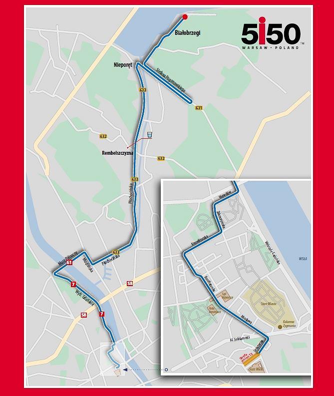Trasa rowerowa 5150 Warsaw Triathlon