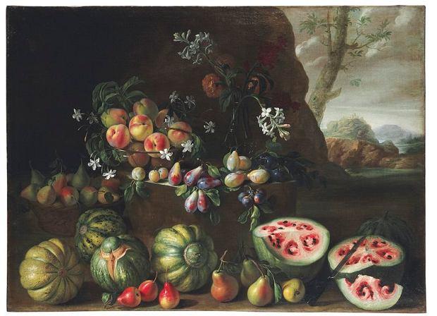 Arbuzy, brzoskwinie, gruszki i inne owoce