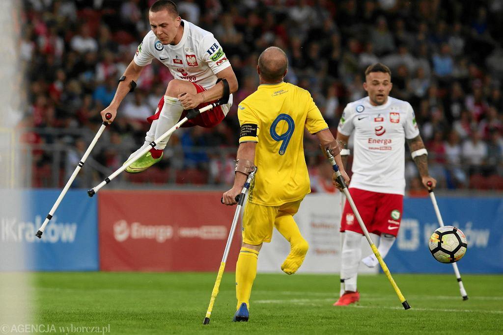 Mecz Polska - Ukraina na mistrzostwach Europy w amp futbolu w Krakowie