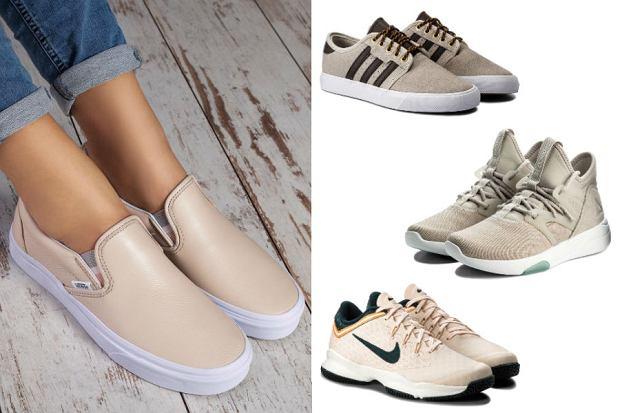 Kolaż / Sneakersy nude / Materiały partnerów