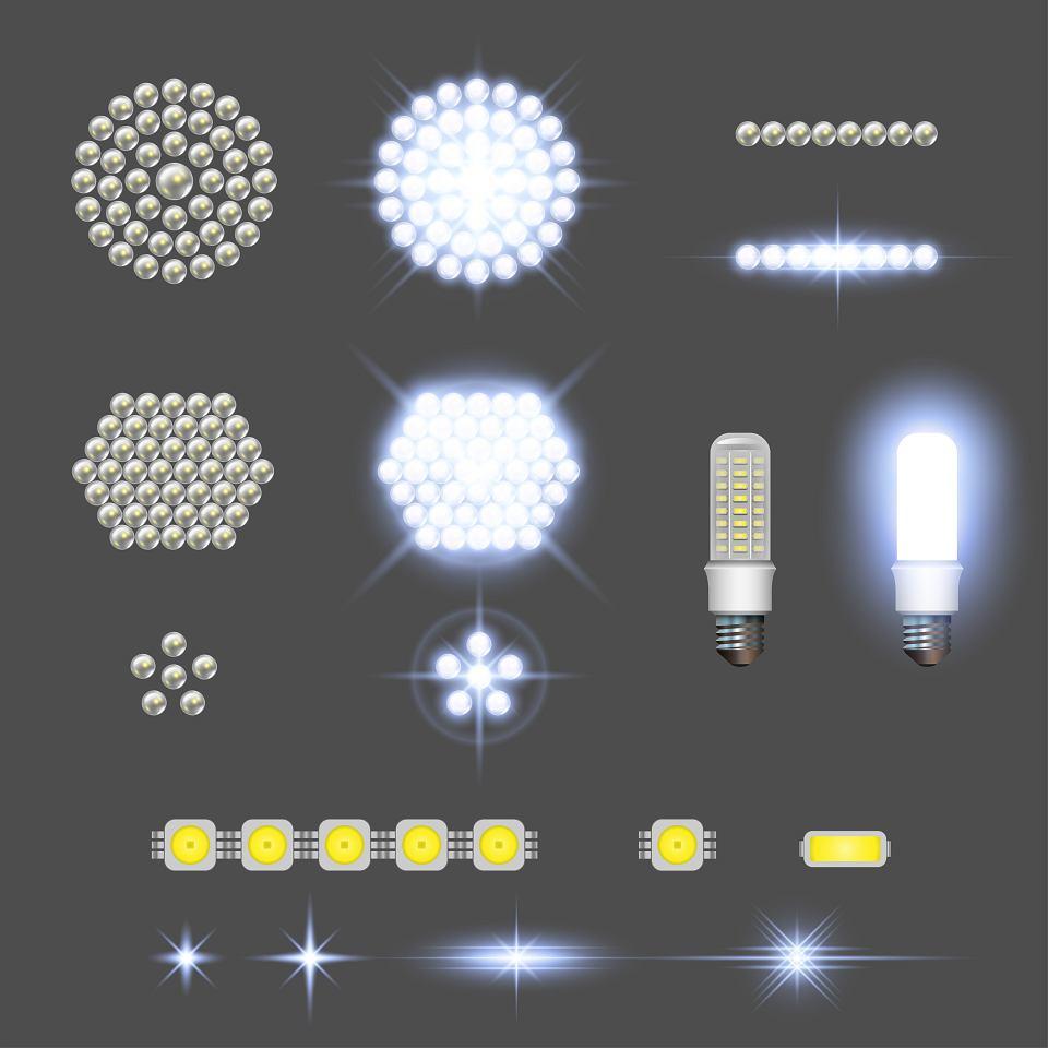 Taśmy ledowe i żarówki LED - wizualizacja