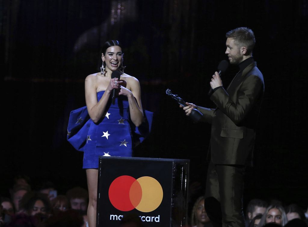 Brit Awards 2019 - Calvin Harris i Dua Lipa