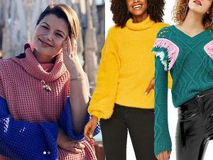 kolorowe swetry damskie / mat. partnera / www.instagram.com/agnieszka_sienkiewicz_official/