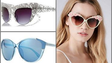 Okulary przeciwsłoneczne typu kocie oko