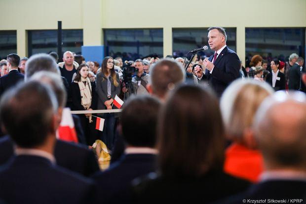 Prezydent Andrzej Duda podczas spotkania z mieszkańcami Zwolenia, 17.01.2020