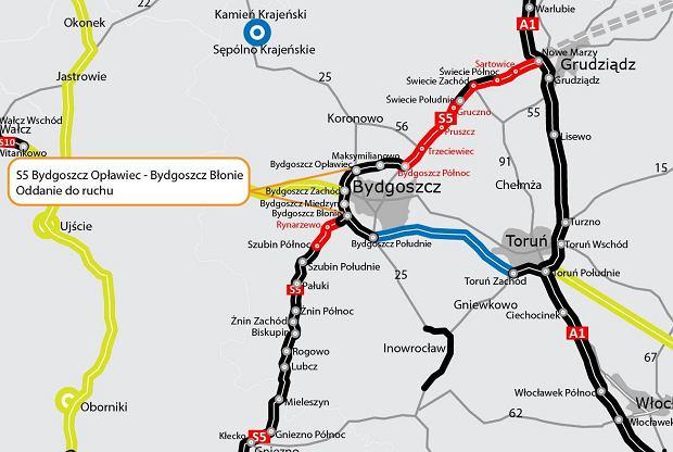 Obwodnica Bydgoszczy działa od początku roku. To ważna część trasy S5