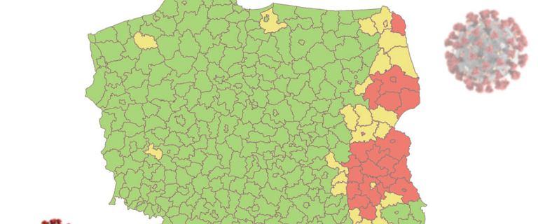 Koronawirus. 24 powiaty spełniają warunki strefy czerwonej [MAPA]