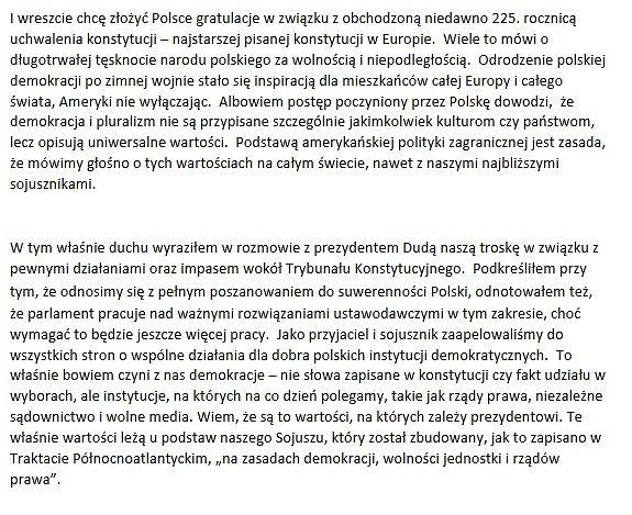 Fragment przemowy Baracka Obamy podczas szczytu NATO w Warszawie