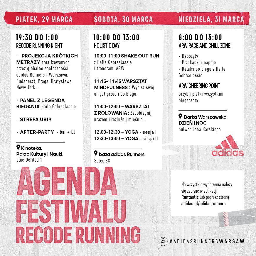 Agenda festiwalu Recorde Running