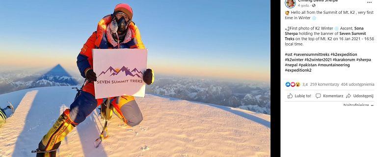 Pierwsze zdjęcie z zimowego szczytu K2! Ostateczny dowód sukcesu Nepalczyków