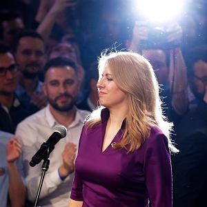 Zuzana Caputova wygrywa wybory prezydenckie na Słowacji. Bratysława, 30 marca 2019