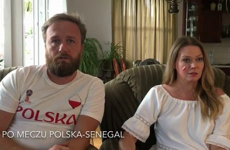 Tamara Arciuch i Bartek Kasprzykowski podsumowują tym filmem meczu Polska - Senegal