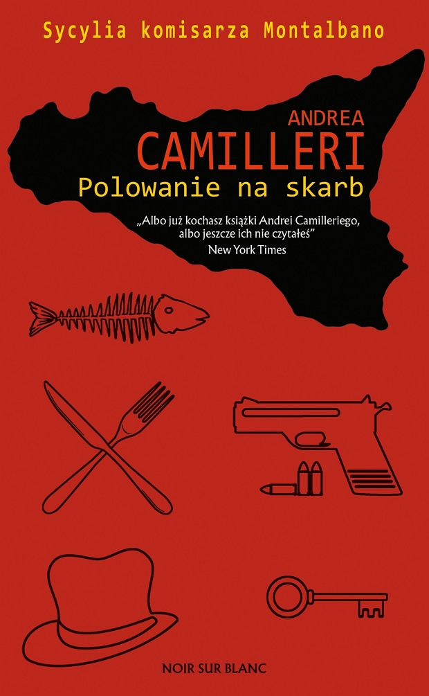 Okładka książki 'Polowanie na skarb' Andrei Camilleriego