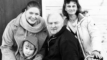 Katarzyna Dowbor z panem Wojciechem i jego rodziną