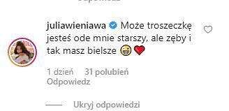 Komentarz Julii Wieniawy