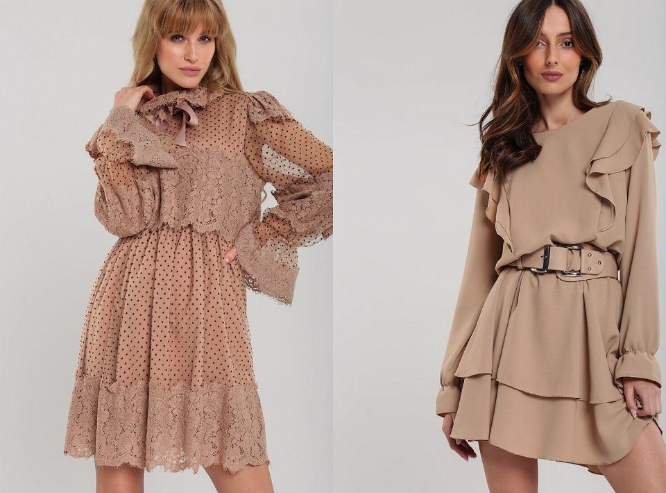 Eleganckie sukienki beżowe