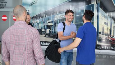 Mickey van der Hart przyleciał do Poznania