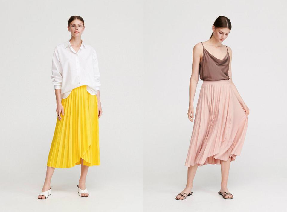 Plisowana spódnica w żywych kolorach idealnie sprawdzi się w codziennych zestawach