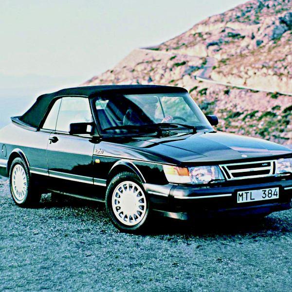 Saab 900 cabrio, nazywany 'Krokodylem'